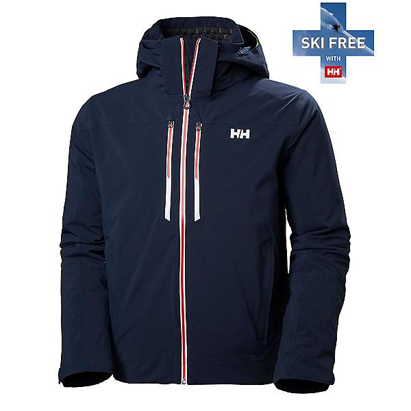 Helly Hansen Alpha Lifaloft Mens Insulated Ski Jacket, Navy, 600