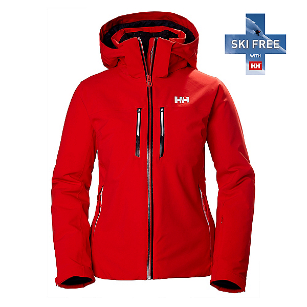 Helly Hansen Alphelia Lifaloft Womens Insulated Ski Jacket, Alert Red, 600
