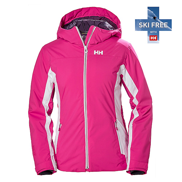 Helly Hansen Majestic Warm Womens Insulated Ski Jacket, Dragon Fruit, 600