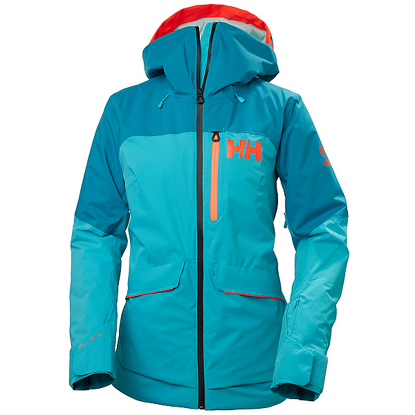 Helly Hansen Powchaser Lifaloft Womens Insulated Ski Jacket, Scuba Blue, 600