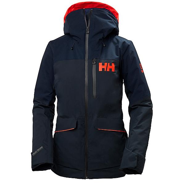 Helly Hansen Powchaser Lifaloft Womens Insulated Ski Jacket, Navy, 600