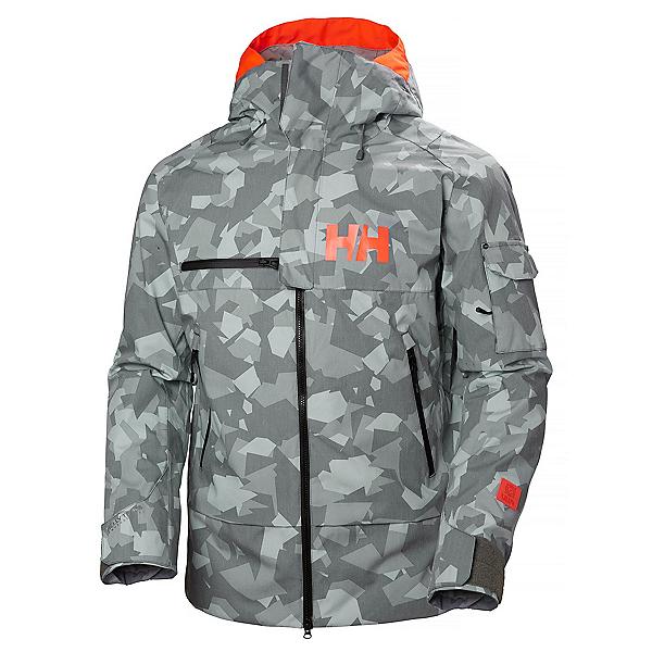 Helly Hansen Garibaldi Mens Insulated Ski Jacket, Quiet Shade Camo, 600