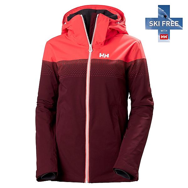 Helly Hansen Motionista Lifaloft Womens Insulated Ski Jacket, Wild Rose, 600