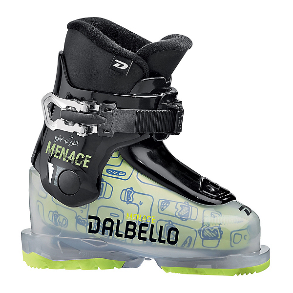 Dalbello Menace 1.0 Kids Ski Boots, Transparent-Black, 600