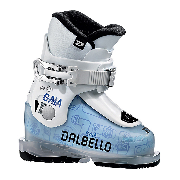 Dalbello Gaia 1.0 Girls Ski Boots, Transparent-White, 600
