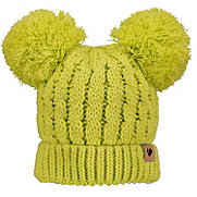 Obermeyer Fayetteville Knit Double Pom 2 Toddlers Hat, Lemon Whip, 181