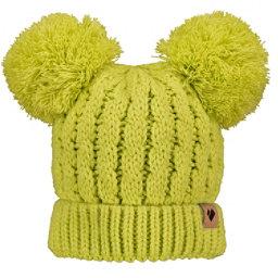Obermeyer Fayetteville Knit Double Pom 2 Toddlers Hat, Lemon Whip, 256