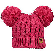 Obermeyer Fayetteville Knit Double Pom 2 Toddlers Hat, Parisol Pink, 181