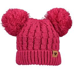 Obermeyer Fayetteville Knit Double Pom 2 Toddlers Hat, Parisol Pink, 256