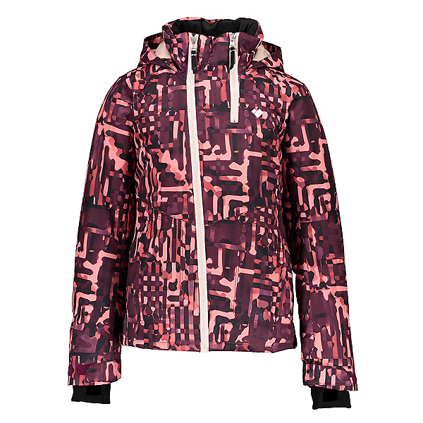 Obermeyer Taja Print Girls Ski Jacket, Liquid Camo, 600