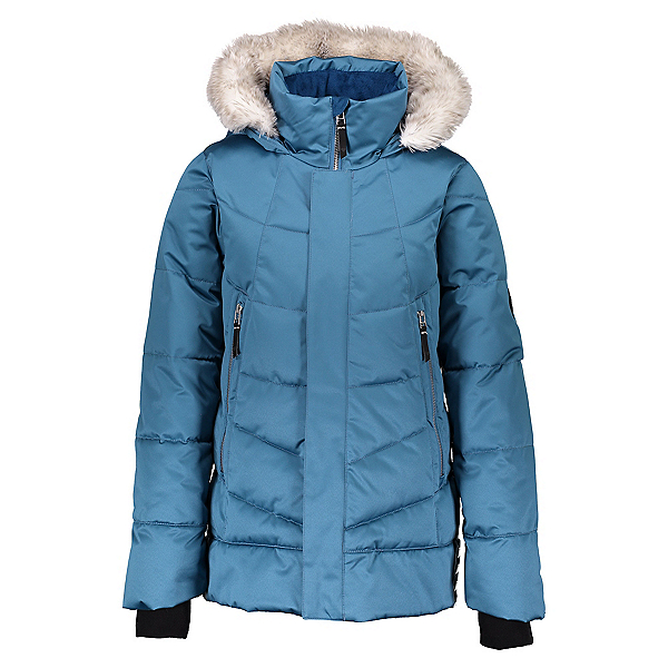 Obermeyer Meghan Girls Ski Jacket, Slate The Facts, 600