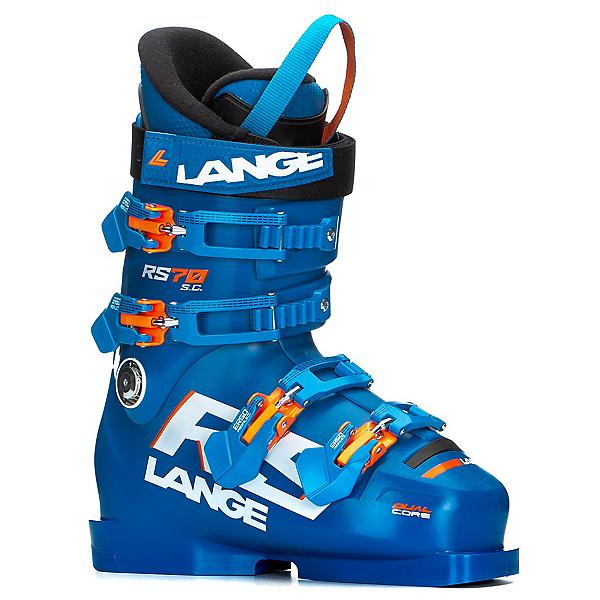 Lange RS 70 SC Junior Race Ski Boots, Power Blue, 600