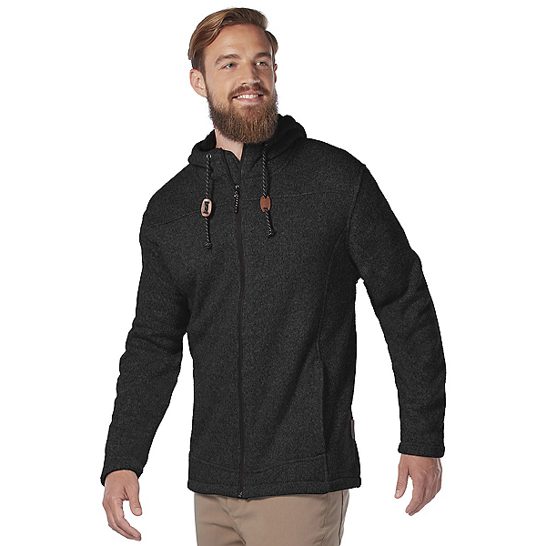 Free Country Mountain Fleece Mens Jacket 2020, Jet Black, 600