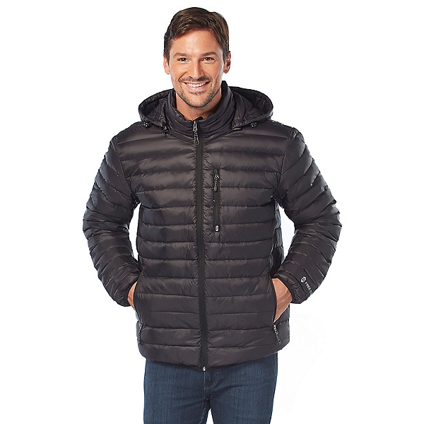 Free Country Nylon Essentials Puffer Mens Jacket, Jet Black, 600