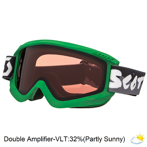 Scott Agent Jr Kids Goggles 2017, Green-Double Amplifier, 600
