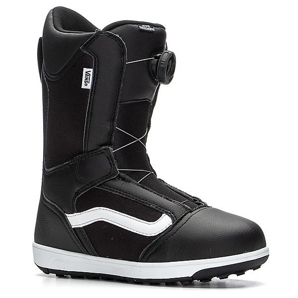 Vans Juvie Linerless BOA Kids Snowboard Boots, Black-White, 600