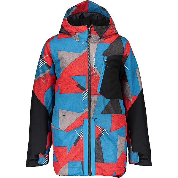 Obermeyer Gage Boys Ski Jacket, Retro Graphic, 600