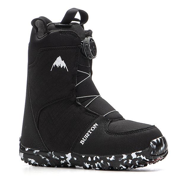 Burton Grom Boa Kids Snowboard Boots 2021, Black, 600
