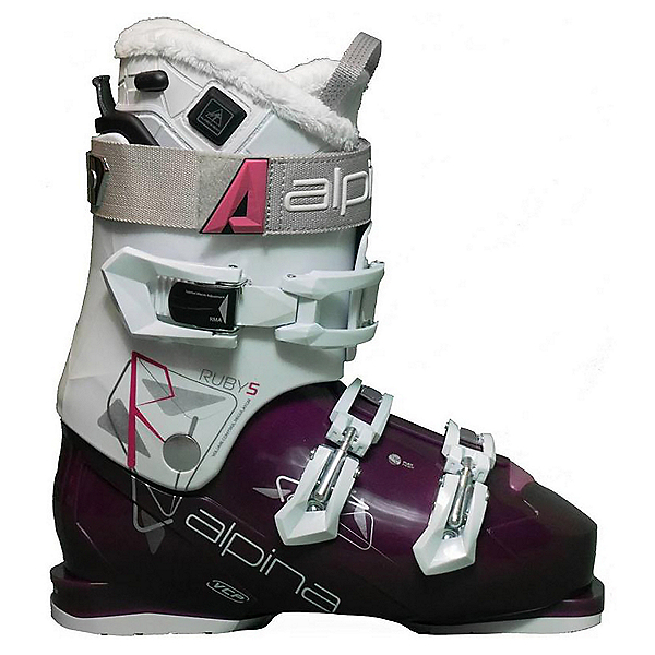 Alpina Ruby 5 InTemp Womens Ski Boots, White-Ruby, 600