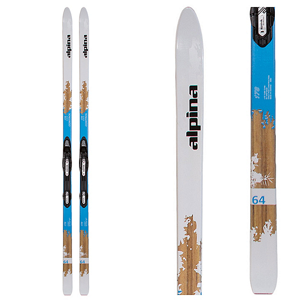 Alpina Control 64 NIS Womens Cross Country Skis with Bindings, , 600