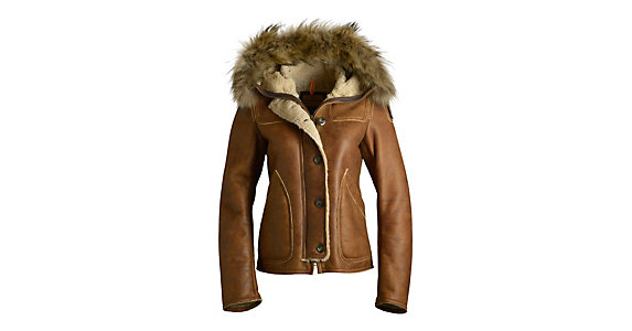 parajumpers shearling coat