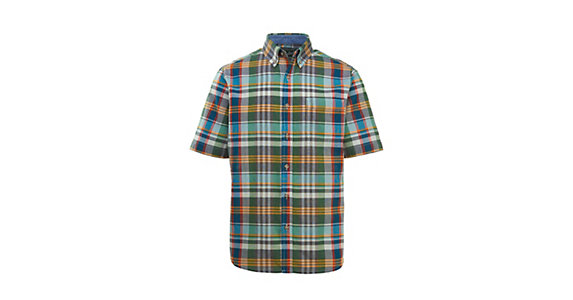103e7bb1ffd7e4 Woolrich Eco Rich Timberline Short Sleeve Madras Plaid Mens Shirt 2018