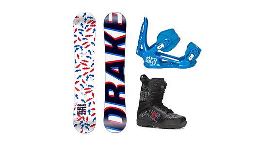 aadf90820124 Drake LF Militia Kids Complete Snowboard Package 2018