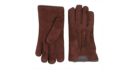 b1b9631344f UGG Sheepskin Leather Trim Mens Gloves