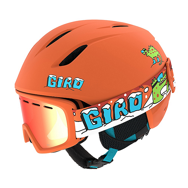 Giro Launch Combo Pack Kids Helmet, Matte Orange Dino, 600
