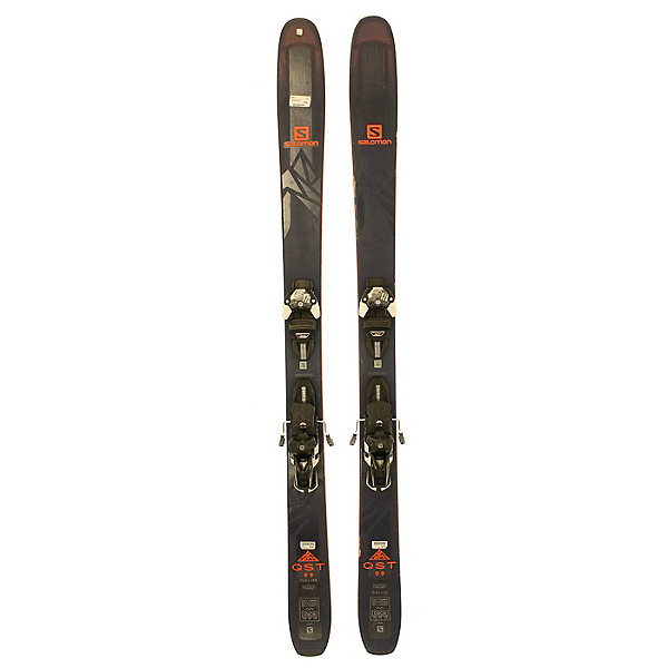 Used 2018 Salomon QST 99 Skis With Warden 13 Bindings Silver Condition, , 600