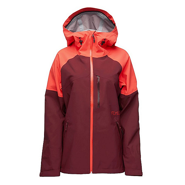 Flylow Vixen 2.1 Womens Shell Ski Jacket, Hibiscus-Tawny, 600