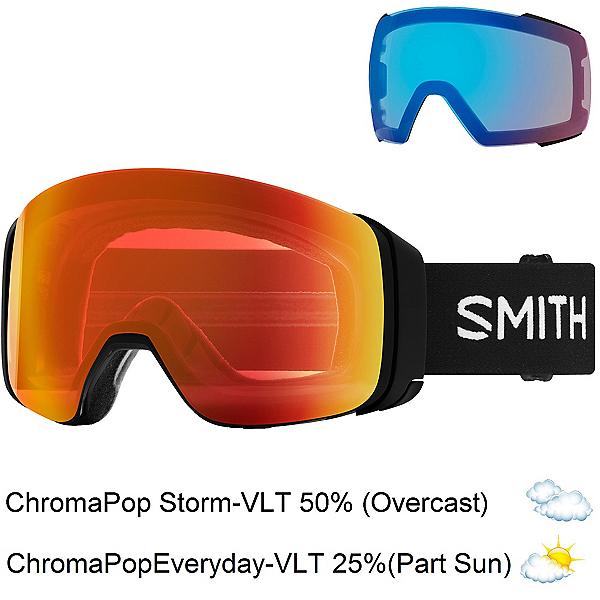 Smith 4D Mag Goggles 2020, Black-Chromapop Everyday Red + Bonus Lens, 600