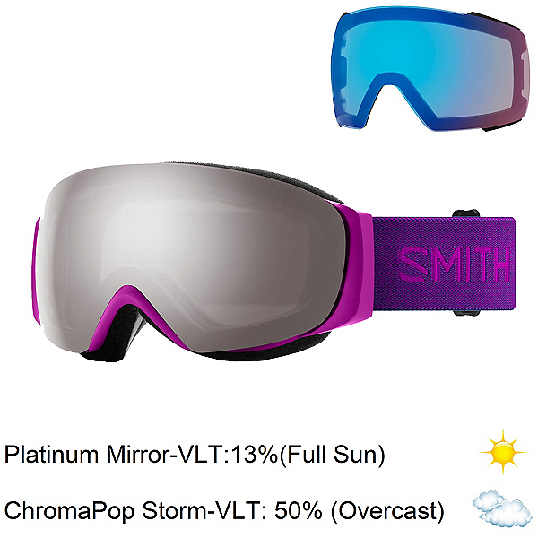 Smith I/O Mag S Womens Goggles 2020, Fuchsia-Chromapop Sun Platinum + Bonus Lens, 600