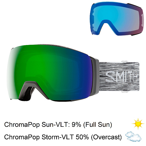 Smith I/O Mag XL Goggles 2020, Cloudgrey-Chromapop Sun Green + Bonus Lens, 600