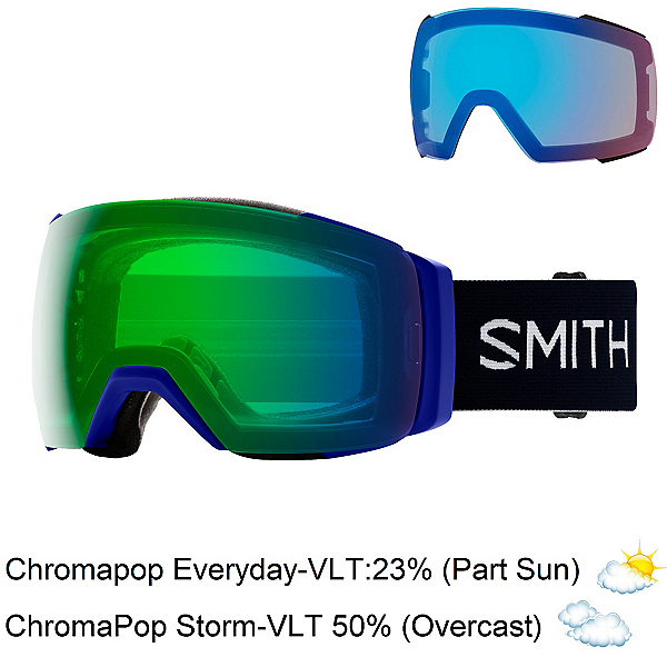 Smith I/O Mag XL Goggles 2020, Klein Blue-Chromapop Ev Day Gr + Bonus Lens, 600