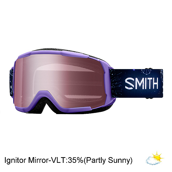 Smith Daredevil Kids Goggles 2020, Purple Galaxy-Ignitor Mirror, 600