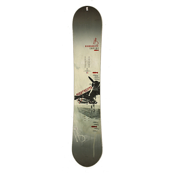 Used Used High Society Empire Snowboard, Deck Only, No Bindings Silver Cond, , 600