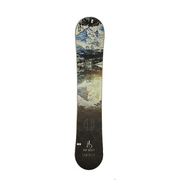 Used Used High Society Temerity Snowboard, Deck Only, No Bindings Silver Cond, , 600