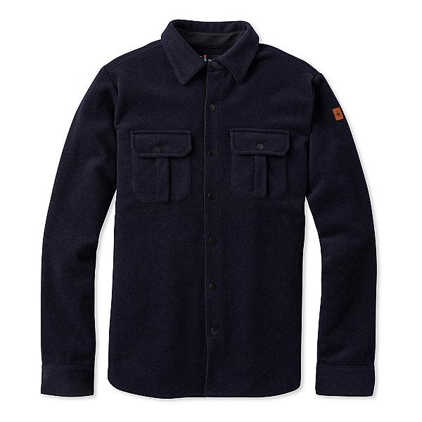 SmartWool Anchor Line Shirt Mens Jacket, Deep Navy Heather, 600