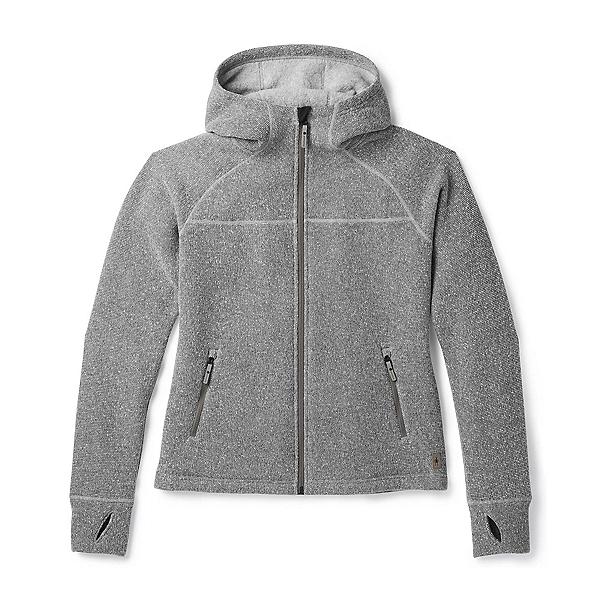 SmartWool Hudson Trail Full Zip Womens Jacket, Light Gray, 600