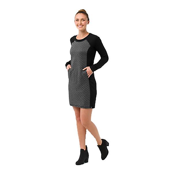 SmartWool Diamond Peak Quilted Dress, Black Heather, 600