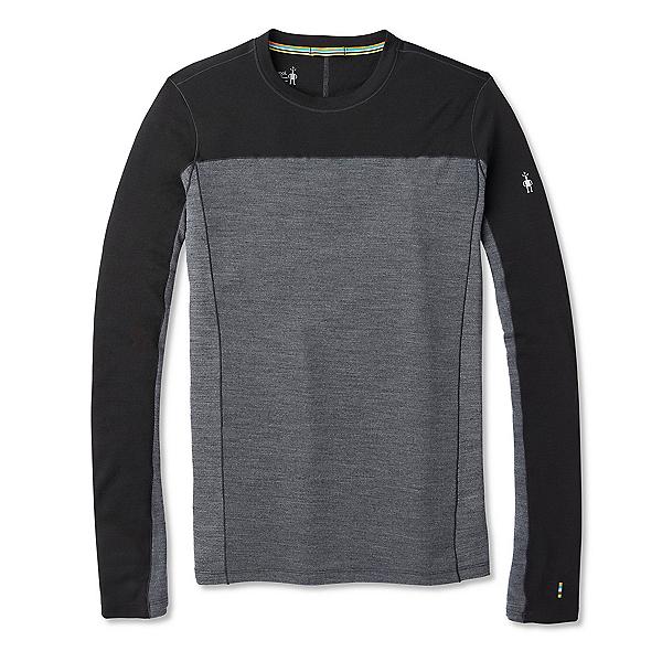 SmartWool Merino Sport 250 Long Sleeve Crew Mens Long Underwear Top, Black, 600