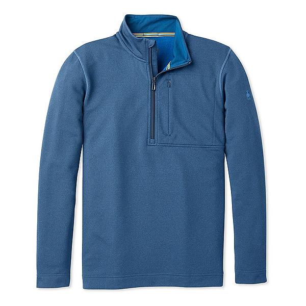 SmartWool Merino Sport Fleece Half Zip Mens Mid Layer, Alpine Blue Heather, 600