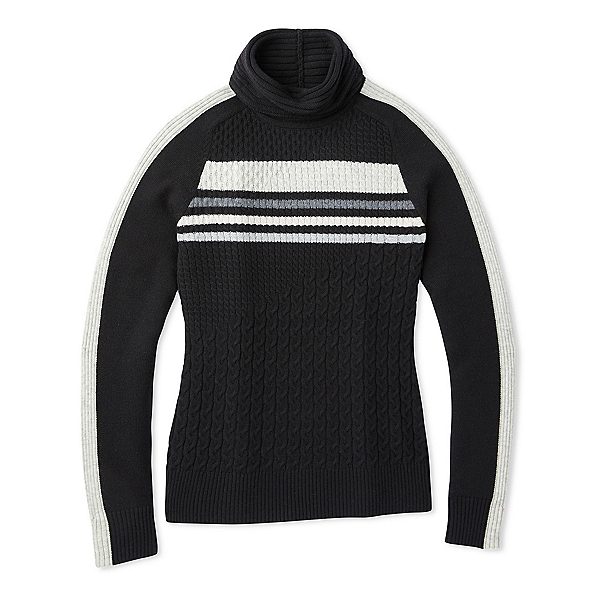 SmartWool Dacono Ski Sweater Womens Sweater, Black, 600