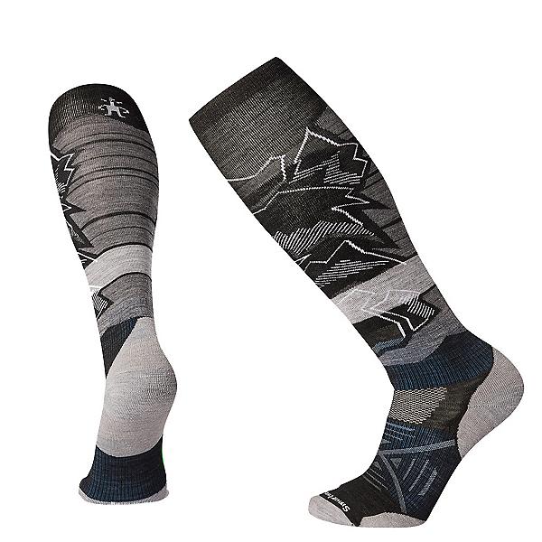 SmartWool PHD Ski Light Elite Patterned Ski Socks, Black, 600