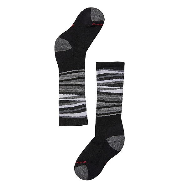 SmartWool Wintersport Stripe Kids Ski Socks, Black, 600