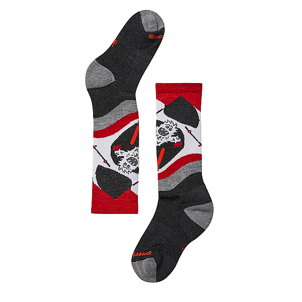 SmartWool Wintersport Yo Yetti Kids Ski Socks, Charcoal, 600