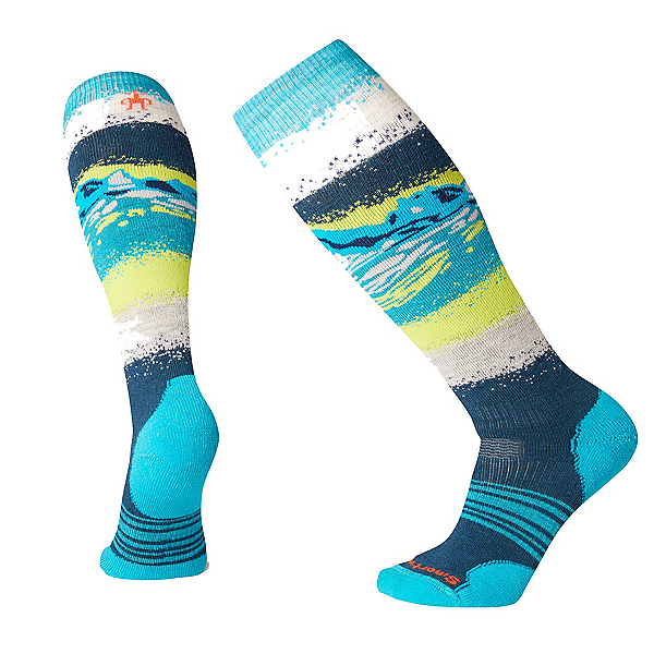 SmartWool PHD Snow Medium Womens Snowboard Socks, Deep Marlin, 600
