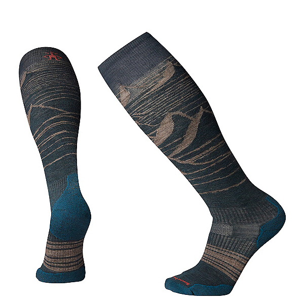 SmartWool PHD Snow Light Elite Snowboard Socks 2020, Everglade, 600