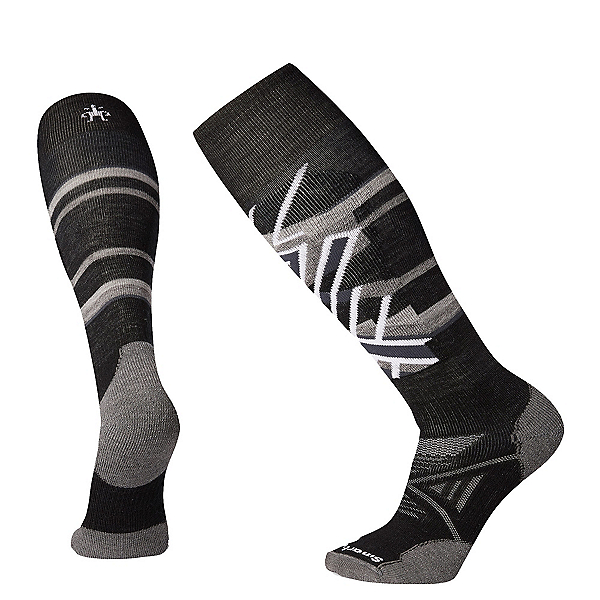 SmartWool PHD Ski Medium Patterned Ski Socks, Black, 600